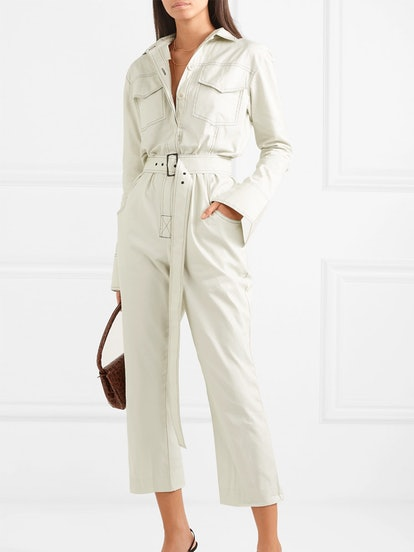 Workwear Belted Cotton-Gabardine Jumpsuit