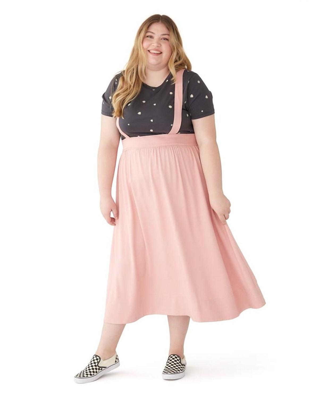 Ban.do Pink Pinafore Skirt
