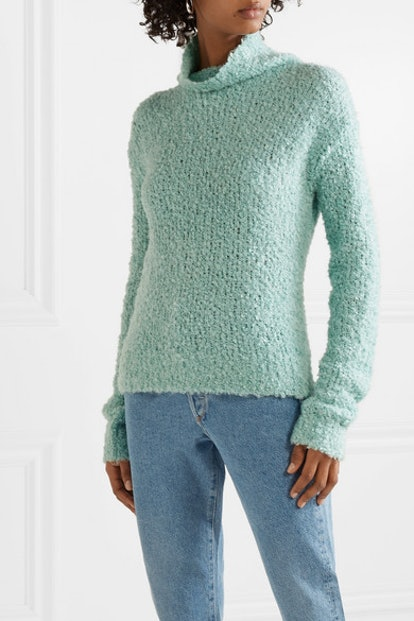 Sukie Oversized Bouclé Turtleneck Sweater