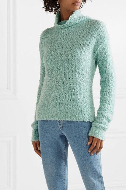Sukie Oversized Bouclé Turtleneck Sweater