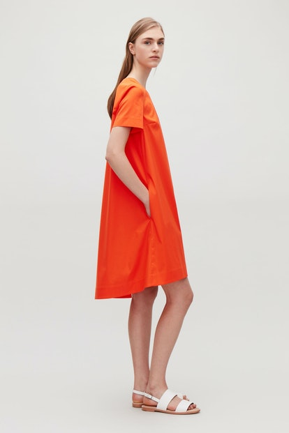 Tie-Detailed A-Line Dress