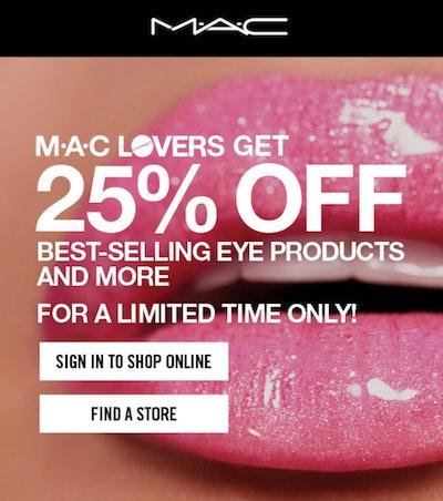 MAC Lovers 25 Percent Off Sale