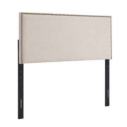 Basic Square Upholstered Adjustable Headboard - Queen/Full - Beige