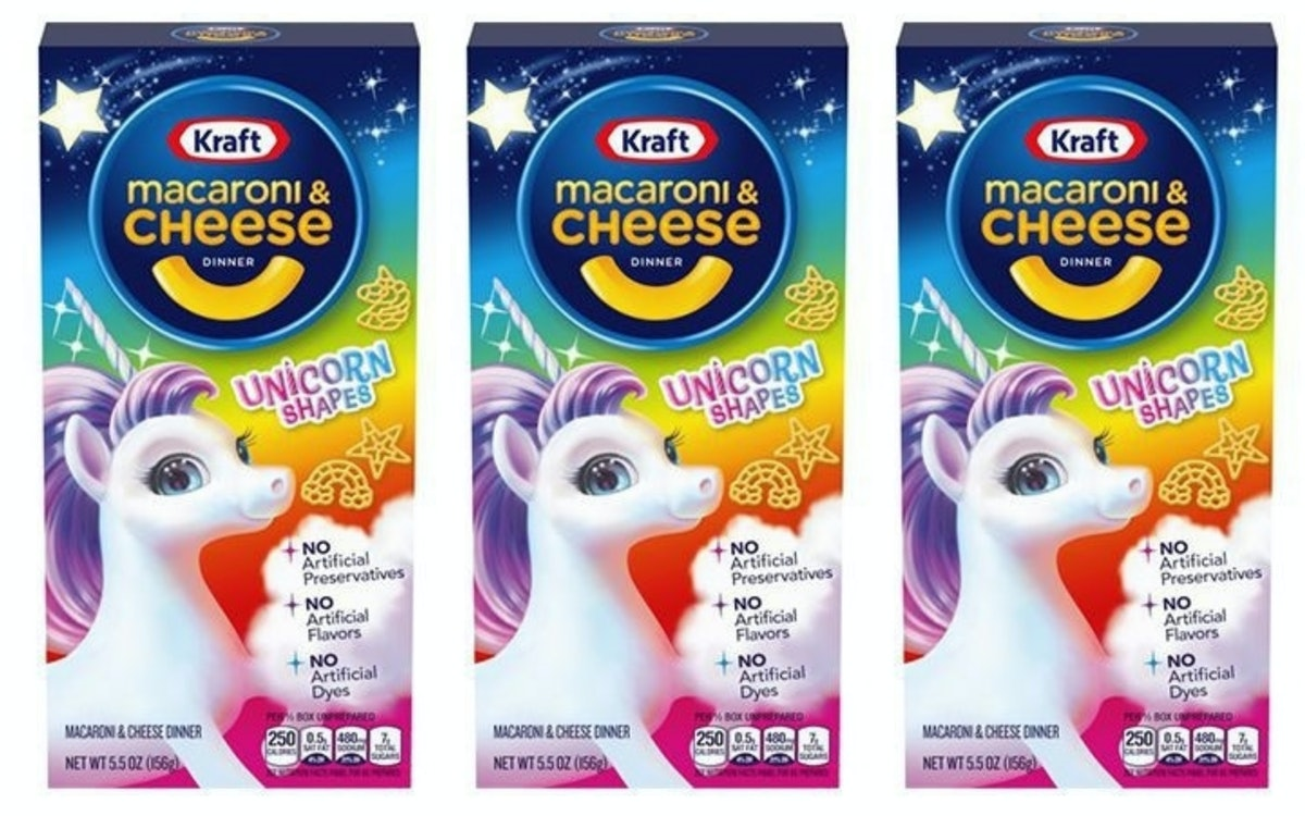 Unicorn-Shaped Macaroni & Cheese From Kraft Is Here To Make Dinner Magical