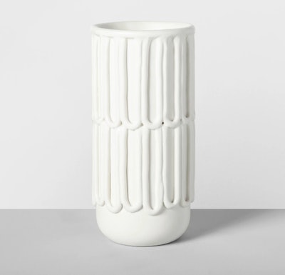 "9.5"" x 4.6"" Decorative Porcelain Vase White - Opalhouse"