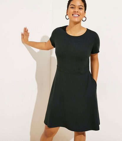 Ponte Flare Pocket Dress