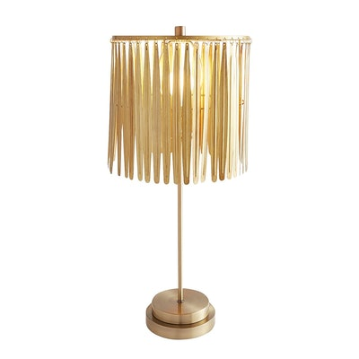 Golden Feather Table Lamp