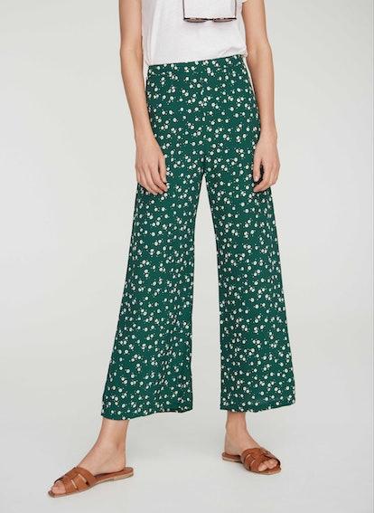 Betina Floral Print - Green - Gabrielle Pants