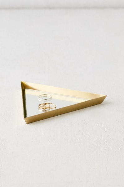Mirrored Triangle Catch-All Dish