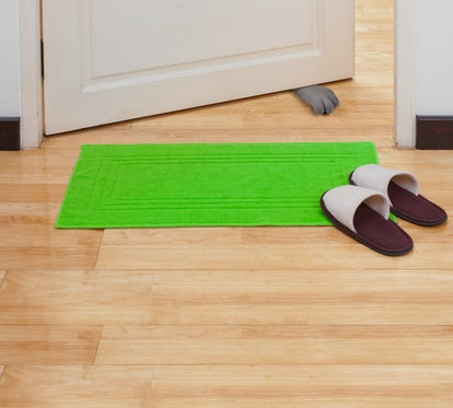 Fred HERE KITTY Cat Paw Doorstop