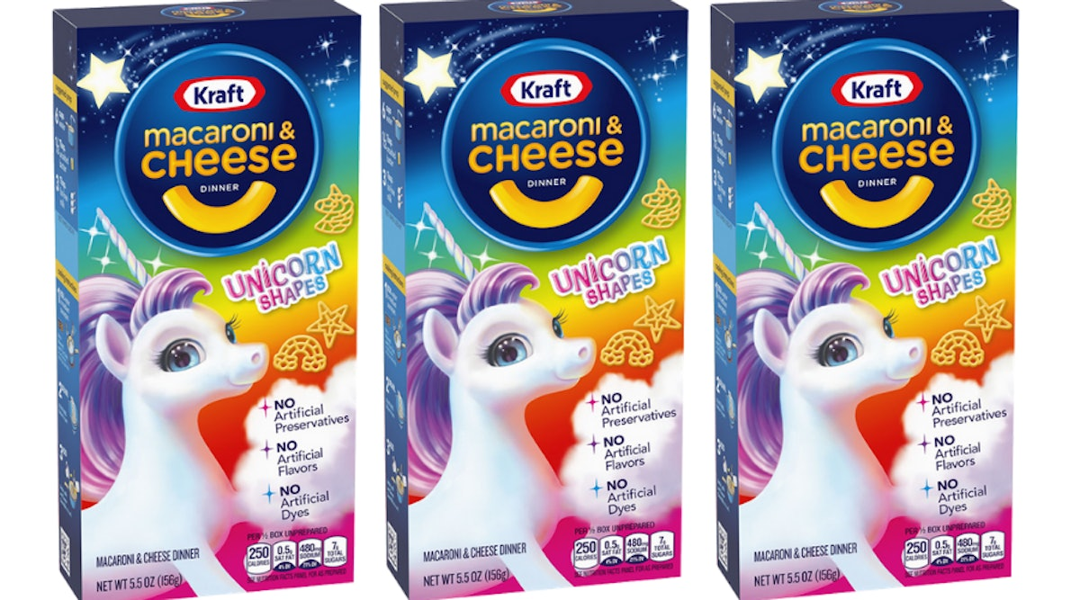 Kraft's New Macaroni & Cheese Has Unicorn Shapes For A Magical Bite