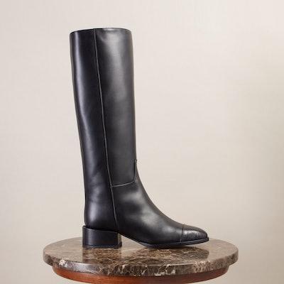 Black Knee-High Line Boots