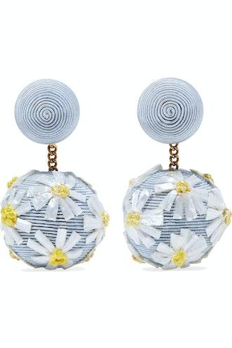 Cord And Raffia Earrings