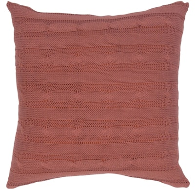 Rizzy Home 18-inch Cable Knit Throw Pillow - Paprika