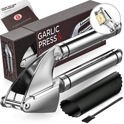 Alpha Grillers Stainless Steel Garlic Press & Mincer