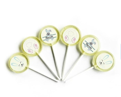 Personalized Easter Bunny Lollipops (6-piece)