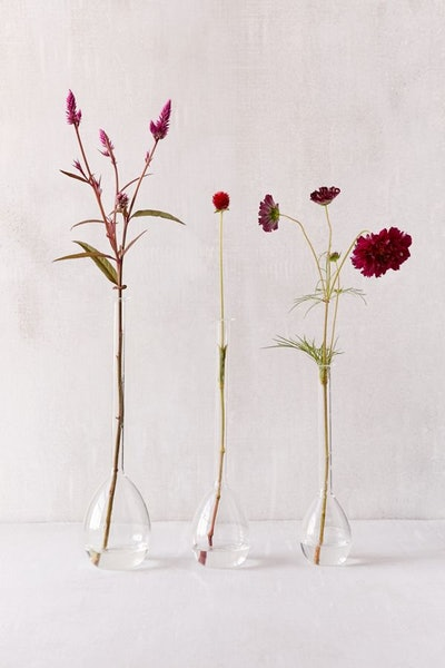 Nina Assorted Teardrop Vases — Set Of 3