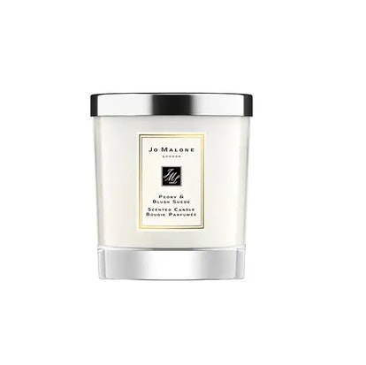 Peony And Blush Suede Home Candle