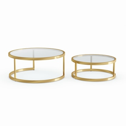 Harper Blvd Silver Orchid Grant Glam Nesting Cocktail Table 2-piece Set