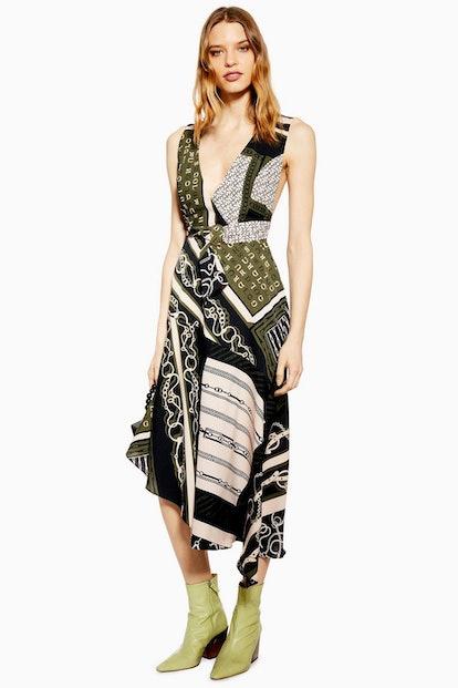 Equestrian Scarf Pinafore Dress