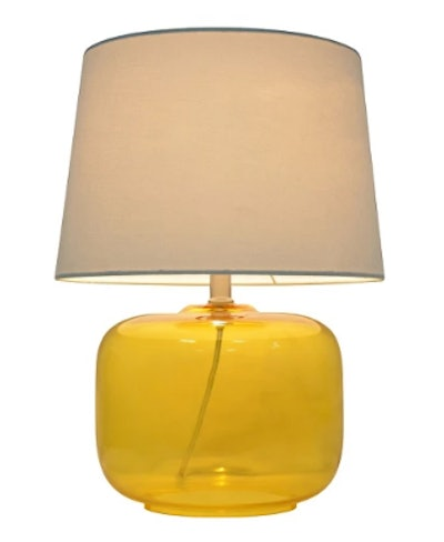 Glass Table Lamp Yellow (Includes CFL bulb) - Pillowfort™