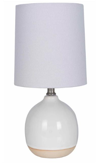 Round Ceramic Table Lamp White (Includes Energy Efficient Light Bulb) - Threshold™