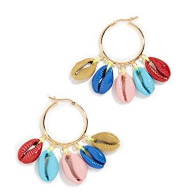 Rainbow Shell Earrings