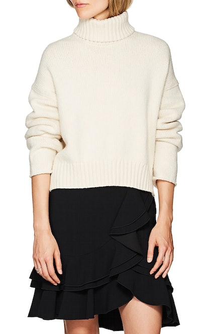 Cotton-Blend Turtleneck Sweater