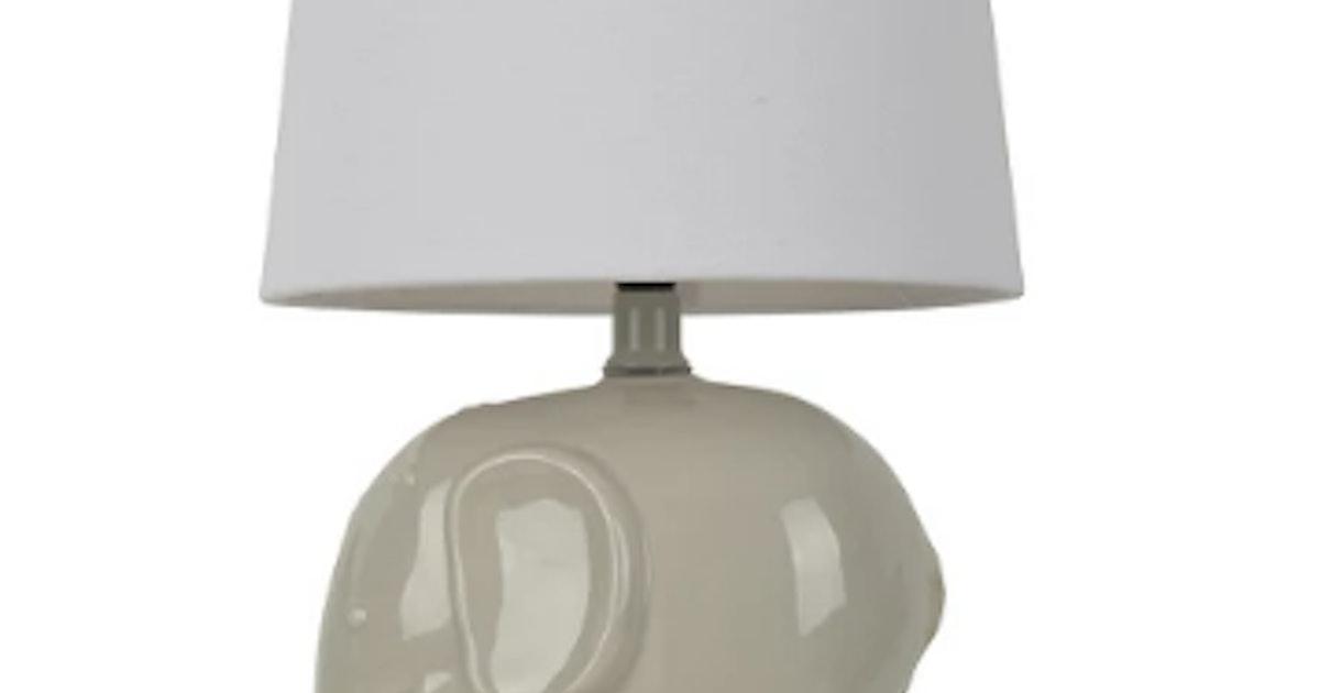Elephant Table Lamp Gray (Includes CFL bulb) - Pillowfort™
