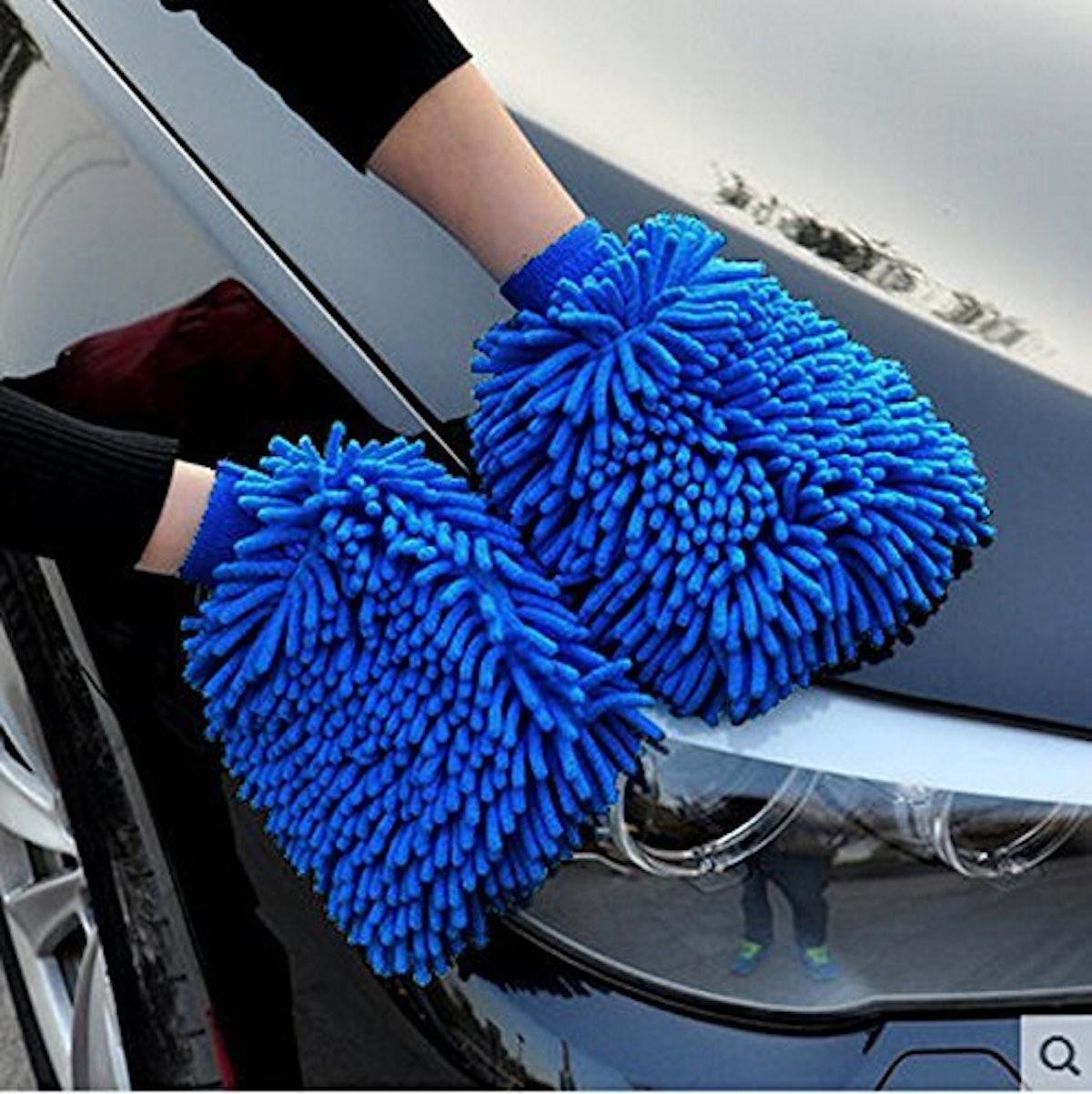 BlueCare Automotive Premium Car Wash Mitts