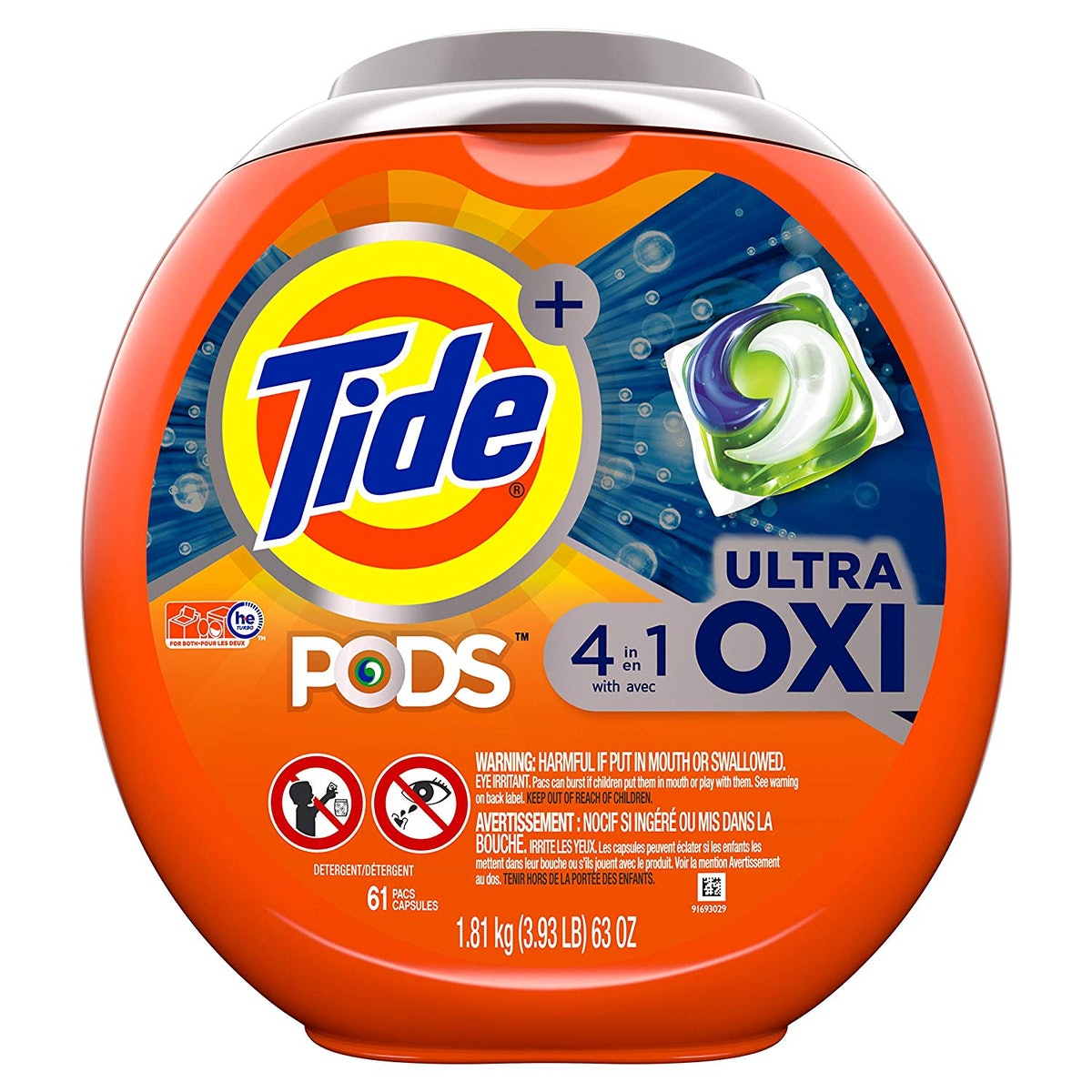 Tide PODS Ultra Oxi 4-in-1 HE Turbo Laundry Detergent Pacs