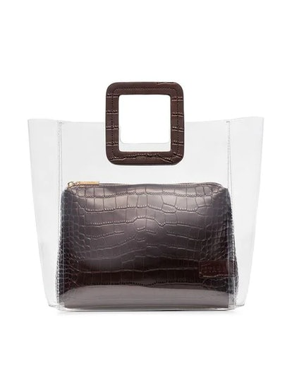 Shirley Leather and PVC Tote Bag