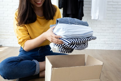 Donating unwanted or old clothing is one way to make your home more sustainable.
