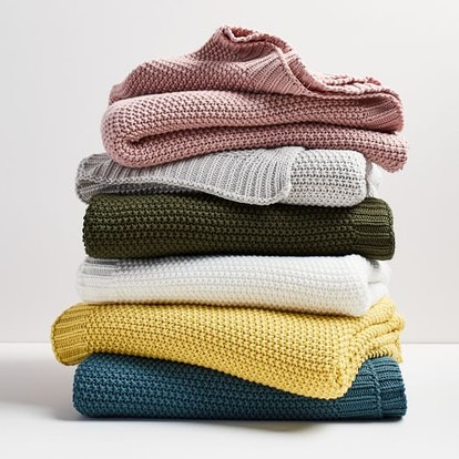 Cotton Knit Throws