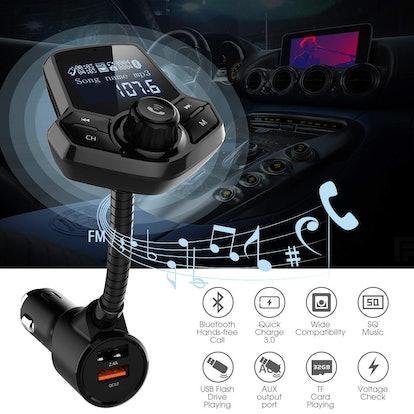 JFONG In-Car Bluetooth FM Transmitter