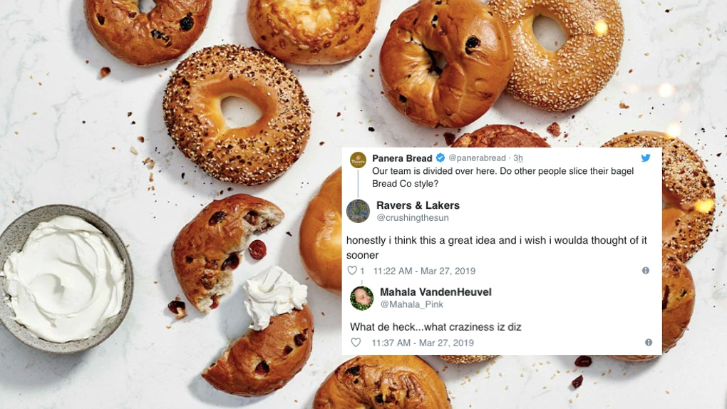 These Tweets About Panera Cutting Bagels Like Sliced Bread Are Torn Between Loving Hating It