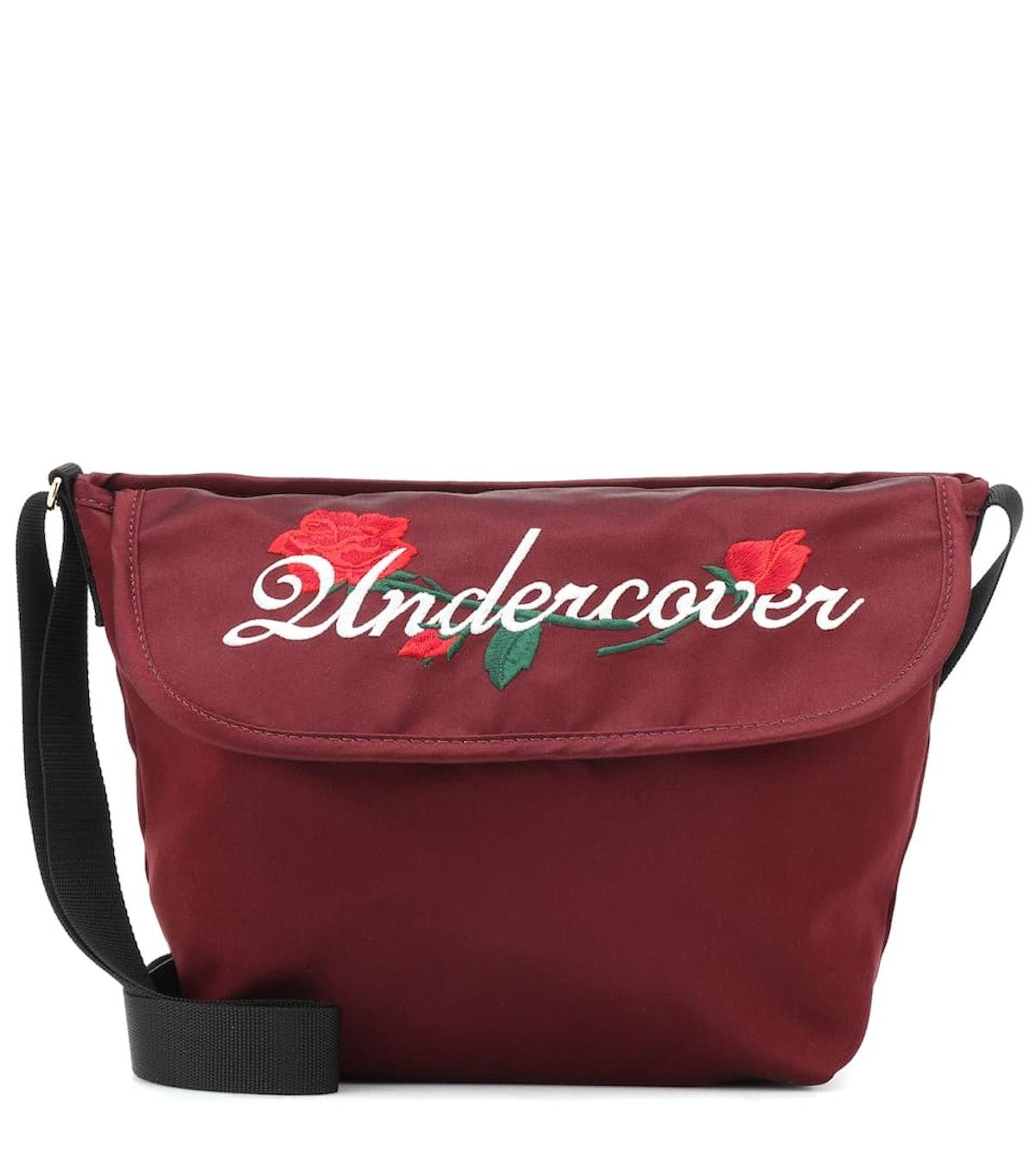 UNDERCOVER Embroidered satin shoulder bag