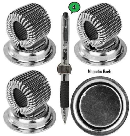 Steel Aid Fridge Magnets Pen Holder Clips