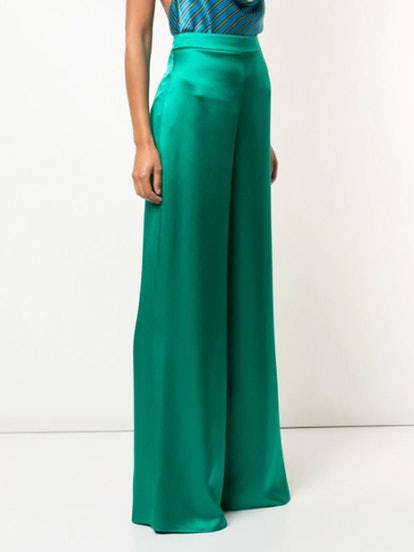 Satin Flare Trousers