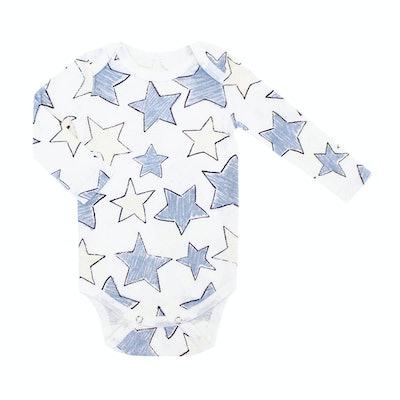 Baby/Toddler Organic Long Sleeve Lap Shoulder Star Bodysuit