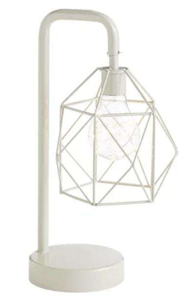 Petite Modern Gray LED Table Lamp
