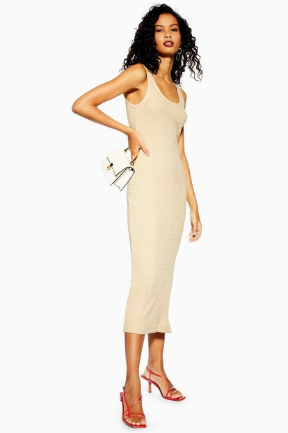 Natural Column Midi Dress