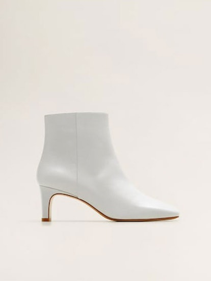Heel Leather Ankle Boots