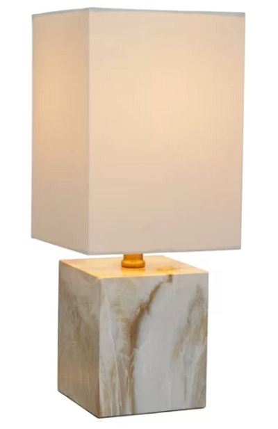"""Bachand Faux Marble Mosiac Accent 15"""" Table Lamp"""