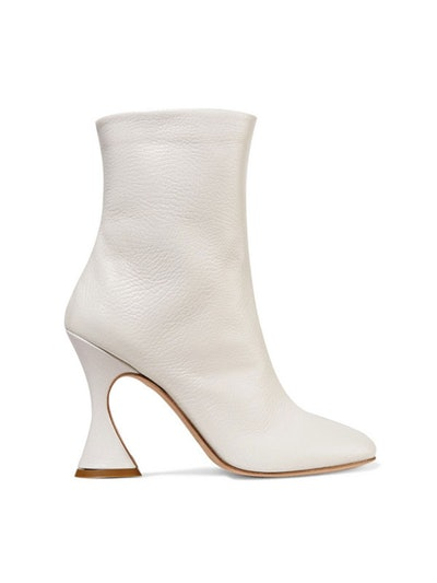 Emma Textured-Leather Ankle Boots