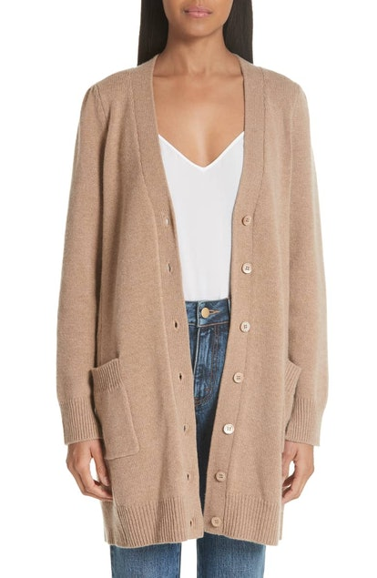 Essentials Wool & Cashmere Boyfriend Cardigan