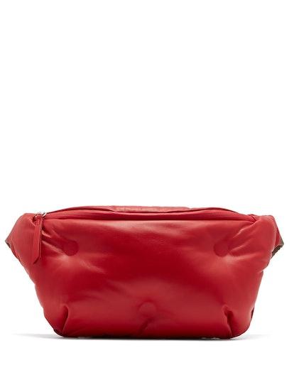Glam Slam Quilted Leather Belt Bag