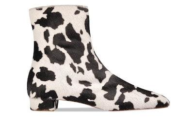 Este Boot Cow-Print Pony Hair Leather