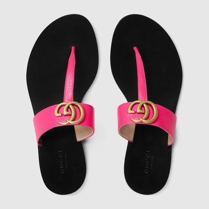 Double G Neon Thong Sandals