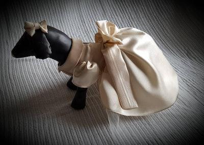 Doggy Bridesmaid Dress